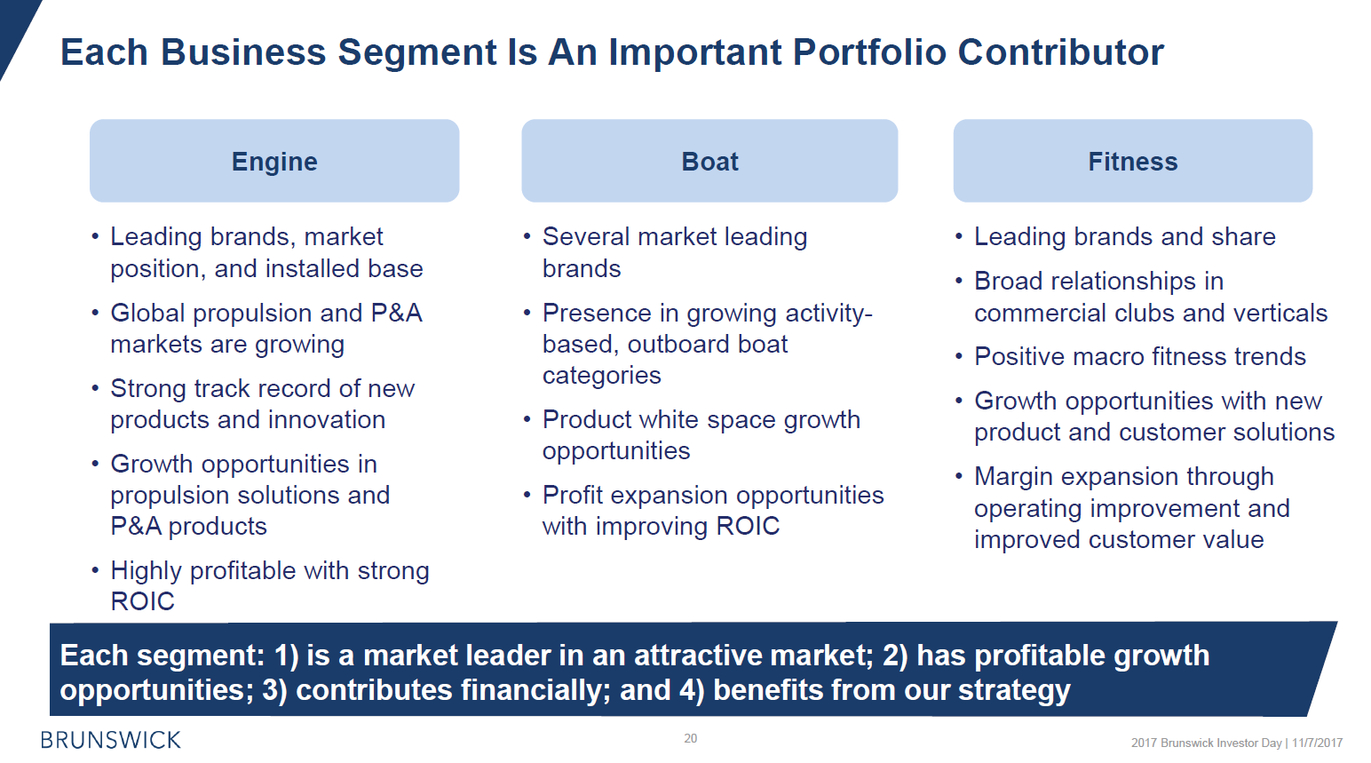Overview 3 segments